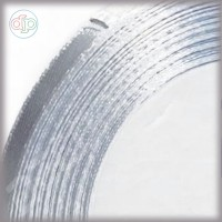 Лента атласная серебристая (ширина - 6 мм)