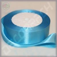 Лента атласная светло-голубой (ширина - 25 мм)