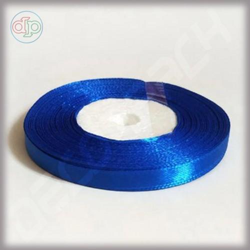 Лента атласная синяя (ширина - 6 мм)