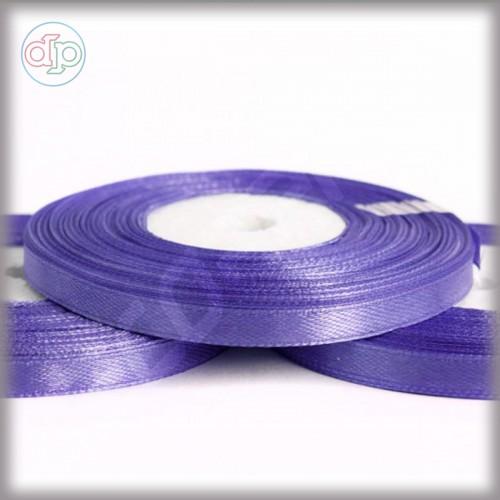 Лента атласная тёмно-лиловая (ширина - 6 мм)