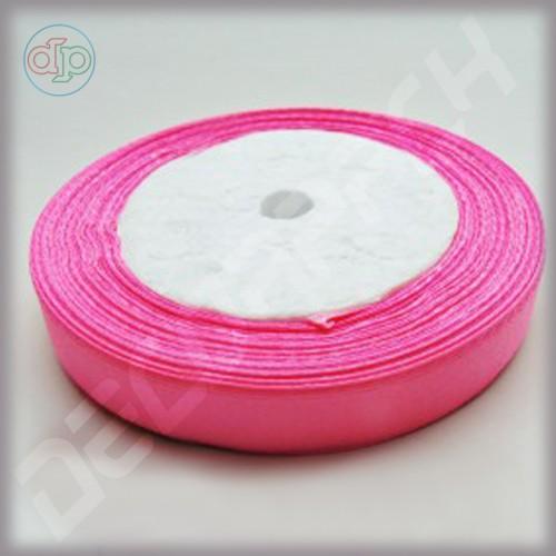 Лента атласная ярко-розовый (ширина - 12 мм)