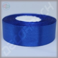 Лента атласная синий (ширина - 25 мм)