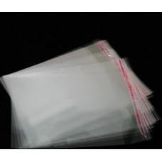 Пакет прозрачный полипропиленовый  с липкой лентой 120x200 мм + 25 мм клапан
