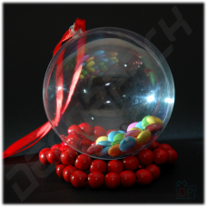 Шар пластиковый прозрачный (диаметр 8 см)