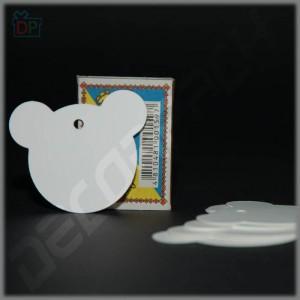 Бирка декоративная - Голова медвежонка