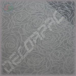 Флизелин для упаковки цветов с рисунком белые розы
