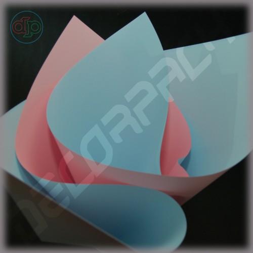 Калька двухсторонняя цвет нежно-розовый / голубой