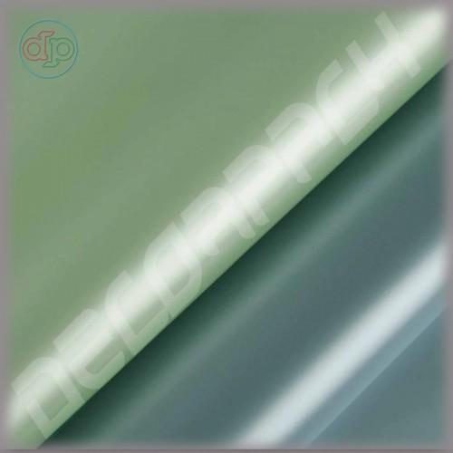 Калька двухсторонняя цвет оливковый / голубой жемчужный