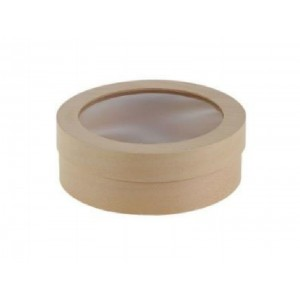 Коробка (тубус) из шпона с прозрачной крышкой 230Х70 мм