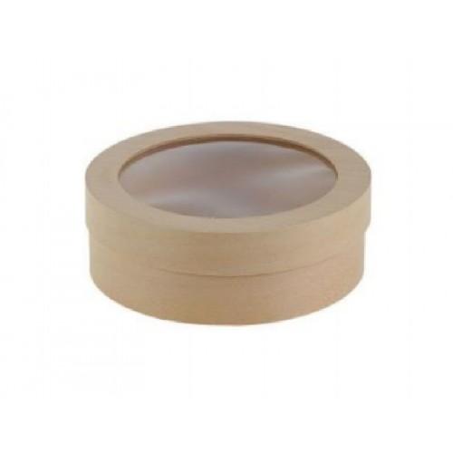 Коробка (тубус) из шпона с прозрачной крышкой 180*60 мм